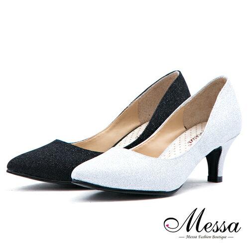 <br/><br/>  【Messa米莎專櫃女鞋】MIT閃亮之星低調奢華內真皮尖頭跟鞋-二色<br/><br/>