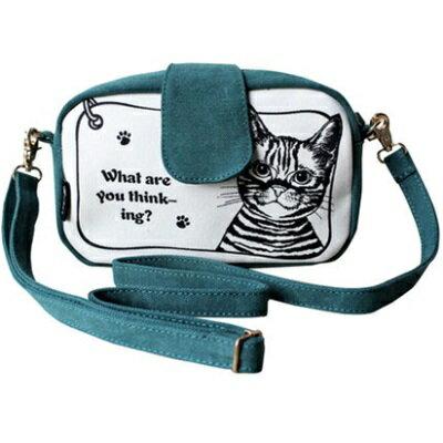 斜背包帆布肩背包-時尚休閒可愛小貓撞色女包包3色73st19【獨家進口】【米蘭精品】