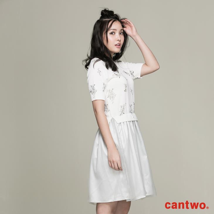 cantwo滿版印花針織洋裝(共二色) 2