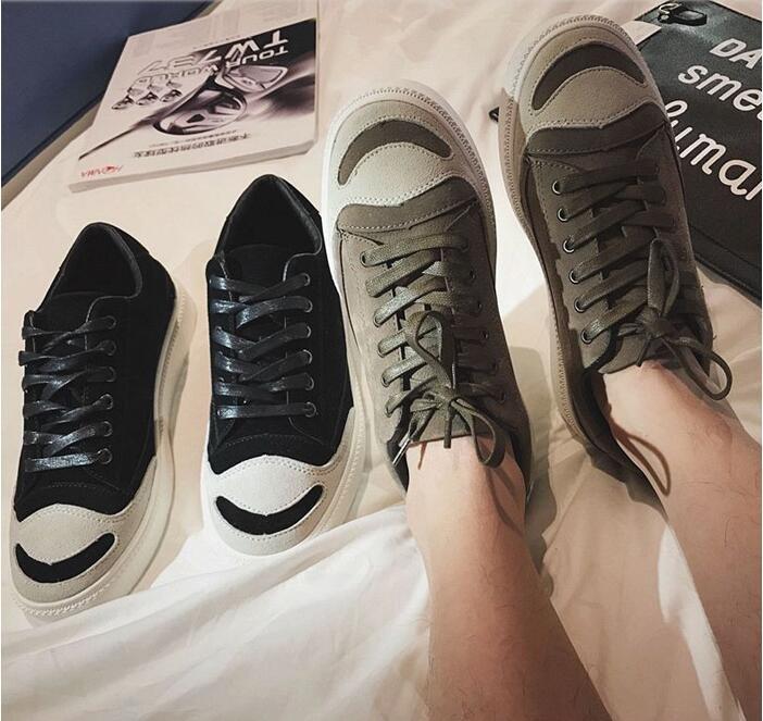 FINDSENSE Z1 日系 時尚 街頭 潮 男 綁帶 開口笑 磨砂皮 反絨皮 休閒鞋 板鞋