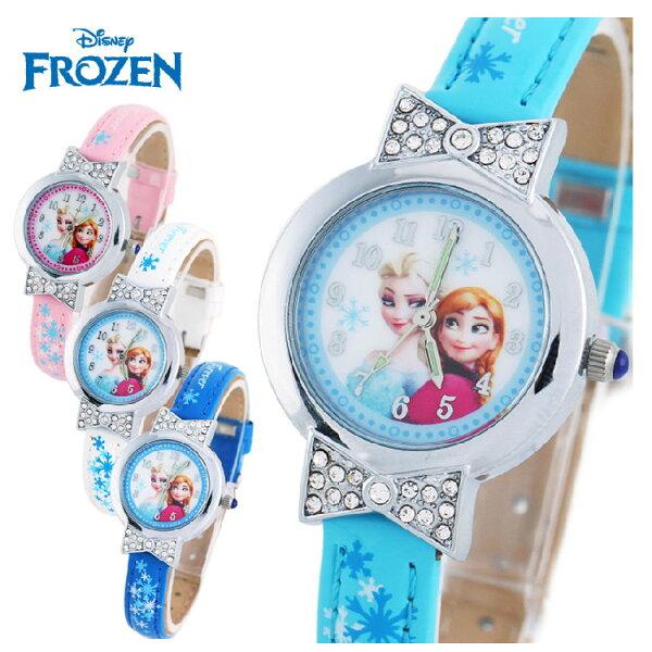 麻吉小舖:新款2015新品Disney迪士尼frozen冰雪奇緣兒童手錶石英錶