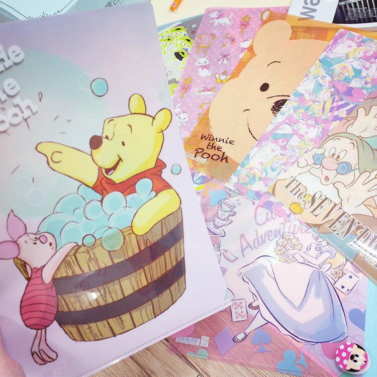 PGS7 日本迪士尼系列商品 - 迪士尼 資料夾 L夾 米奇 維尼 史迪奇 三眼怪 愛麗兒 愛麗絲【SHJ7074】