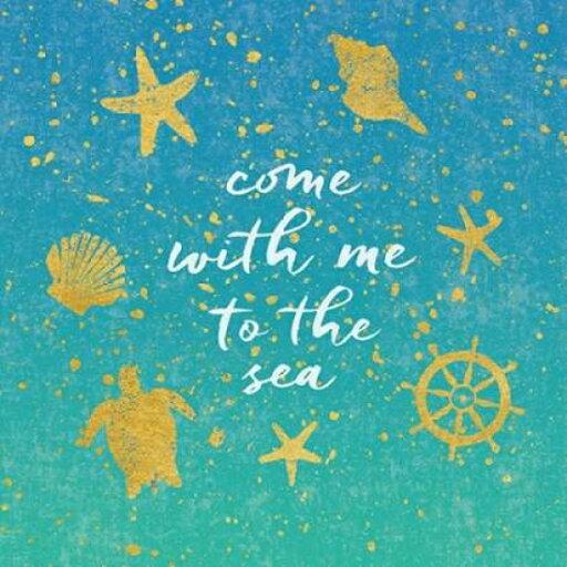 Golden Sea II Poster Print by Moira Hershey (12 x 12) 05662a57991866255fe201d320ebb06f