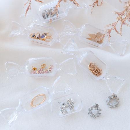 方形糖果造型收納盒 飾品收納盒 攜帶式 飾品盒 收納盒 旅行 外出 飾品 戒指 耳環 項鍊【B063522】