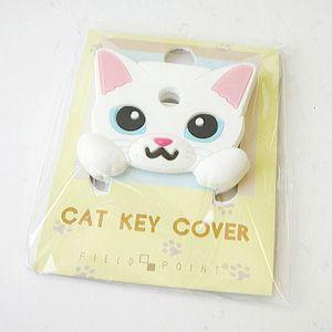 FIELD&POINT超可愛貓寶貝鑰匙套 白喵喵