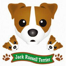 FIELD&POINT 超可愛狗狗車貼(傑克羅素)