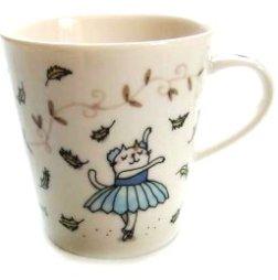 【吉澤深雪】日本精巧貓咪馬克杯-華麗芭蕾