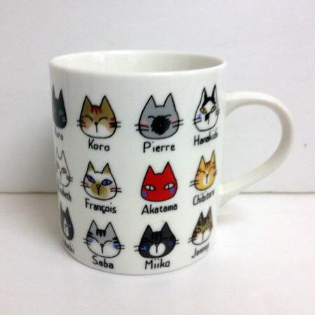 【吉澤深雪】日本精巧貓咪馬克杯-貓臉歲月