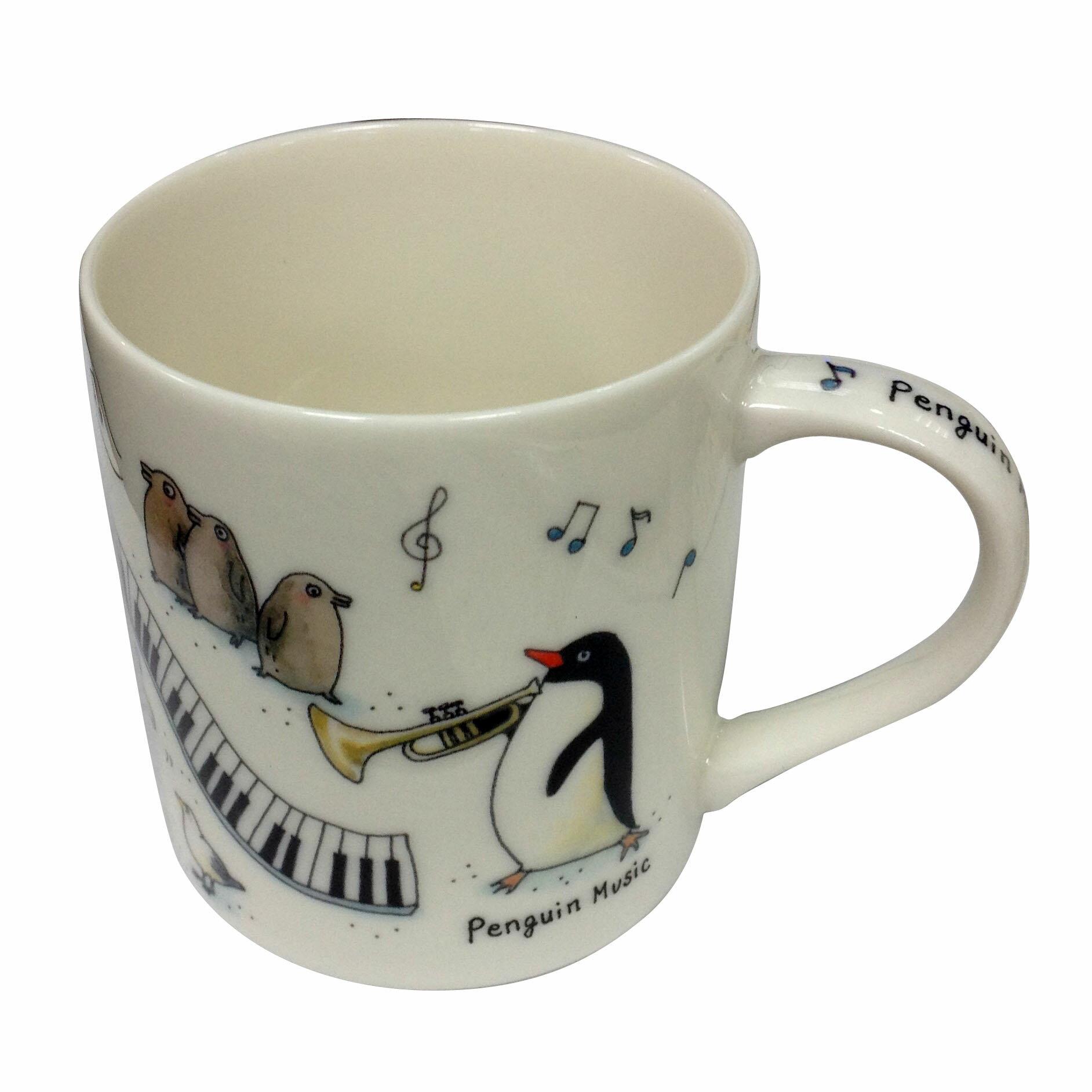 【吉澤深雪】日本精巧貓咪馬克杯-企鵝音樂會