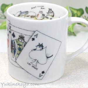 【吉澤深雪】日本精巧貓咪馬克杯-貓咪撲克