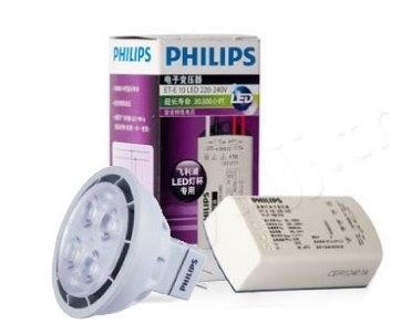 飛利浦PHILIPS★LED杯燈 MR16 5.5W 12V 白光 黃光 含專用變壓器★永旭照明PH-LED-MR165.5W-6500K+1UF