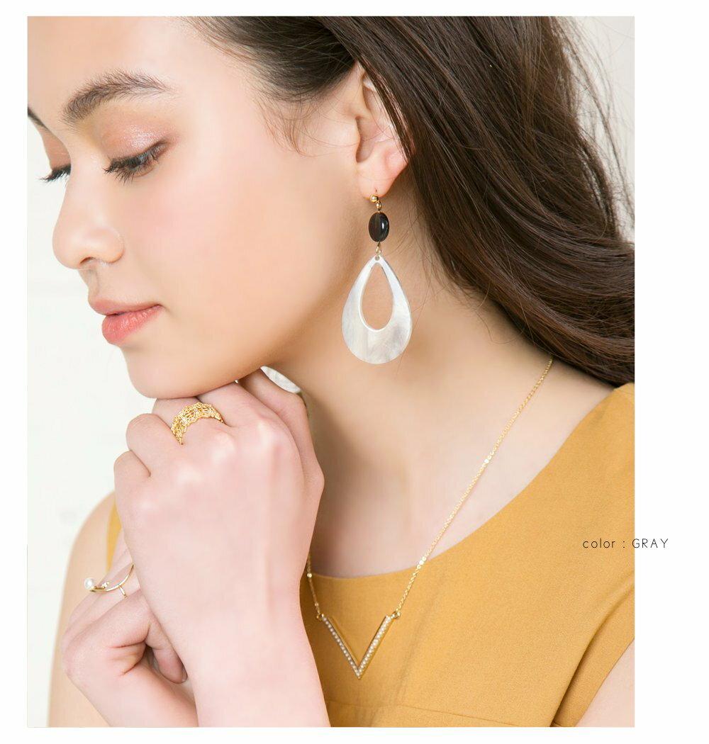 日本CREAM DOT  /  復古染色琥珀耳環  /  qc0210  /  日本必買 日本樂天直送(700) 6