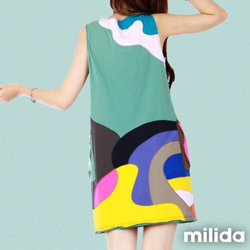 【Milida,全店七折免運】無袖大口袋可愛洋裝 8