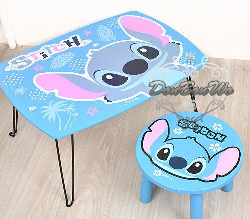 迪士尼史迪奇折疊桌子長桌子藍底張手381398