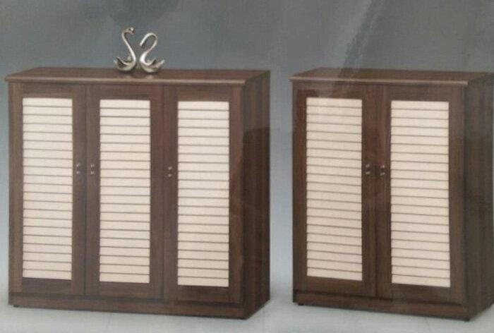 【尚品家具】474-02 萊德百葉三門鞋櫃(另有兩門) Shoes Cabinet