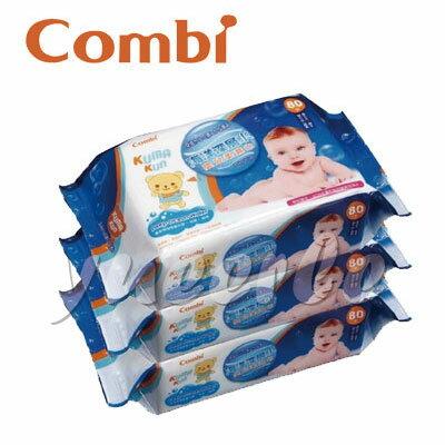 【悅兒樂婦幼用品?】Combi 康貝海洋深層水嬰兒柔濕巾80抽(3包入)