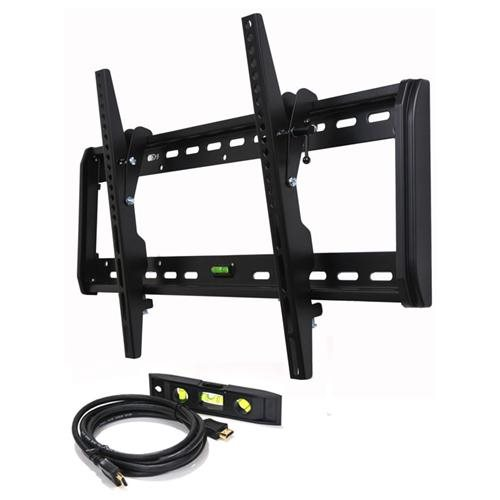 "VideoSecu Tilt LED LCD Plasma TV Wall Mount for most 32 37 39 40 42 46 47 50 51 52 55 60 65"" Flat Panel Screen HDTV - 165lbs 1QH 0"