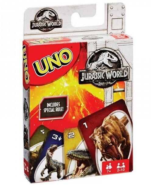 特價 含稅附發票  UNO Jurassic World Card Game 侏儸紀世界 Mattel 方舟風雲會益智桌遊  實體店正版