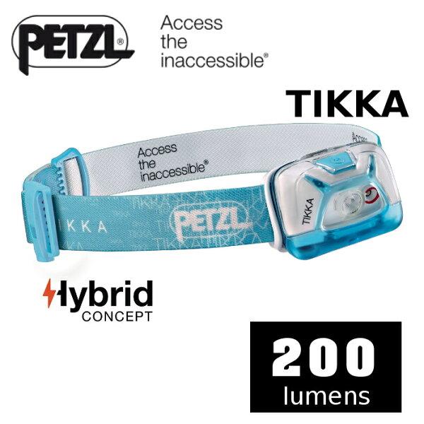 【速捷戶外】PETZLPTE93AAD(藍色)高亮度LED頭燈(200流明)ACTIKCORE,登山露營,戶外照明