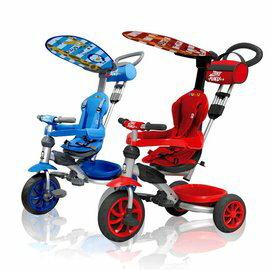 PUKU藍色企鵝 - Happy Ride 遮陽三輪車 (紅/藍)