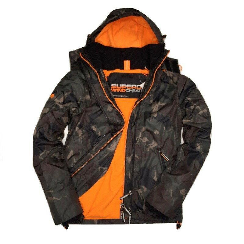 Superdry 極度乾燥外套 男款 內刷毛三拉鍊連帽夾克 防風防潑水 3色 英國正品現貨 1