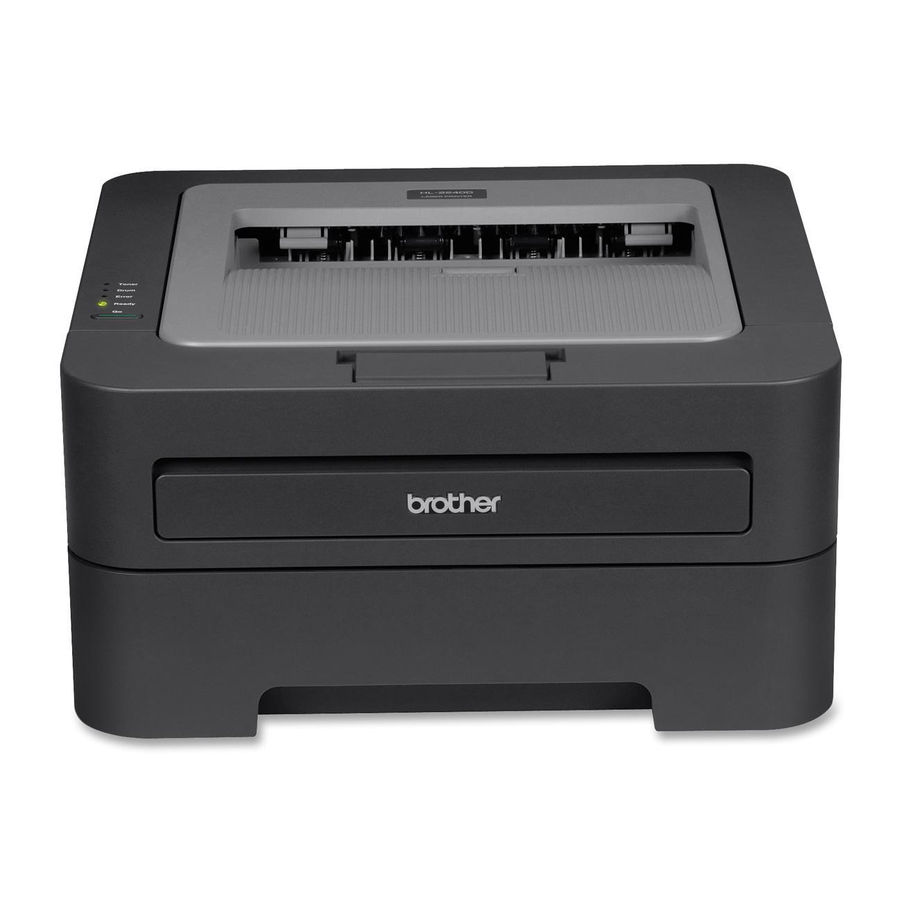 Brother HL-2240 Laser Printer - Monochrome - 2400 x 600 dpi Print - Plain Paper Print - Desktop - 24 ppm Mono Print - 251 sheets Standard Input Capacity - 10000 Duty Cycle - Manual Duplex Print - USB 0