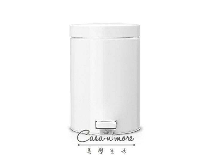Brabantia 時尚垃圾桶 腳踏式垃圾桶 3L- 白色 (賓士鋼材) 比利時製造 0