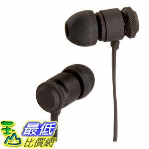 [106美國直購] AmazonBasics 耳機 In-Ear Headphones with Flat Cable and Universal Mic - Black