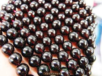 白法水晶礦石城 莫桑比克 天然-紅石榴 8mm 礦質 -質透勻稱 串珠/條珠 首飾材料