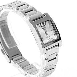CASIO卡西歐 銀色方框時尚腕錶 女孩優雅鐵錶 柒彩年代【NEC98】原廠公司貨