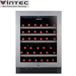 【4/30前贈行動冰箱】VINTEC V40SGES3 單門單溫紅酒櫃 不鏽鋼系列