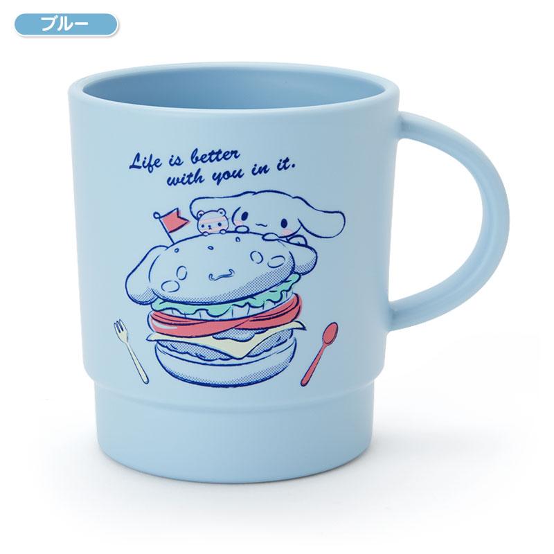【真愛日本】4901610225097 日本製340ml馬克杯-CN多表情藍ACPB 大耳狗 喜拿狗 馬克杯 杯子
