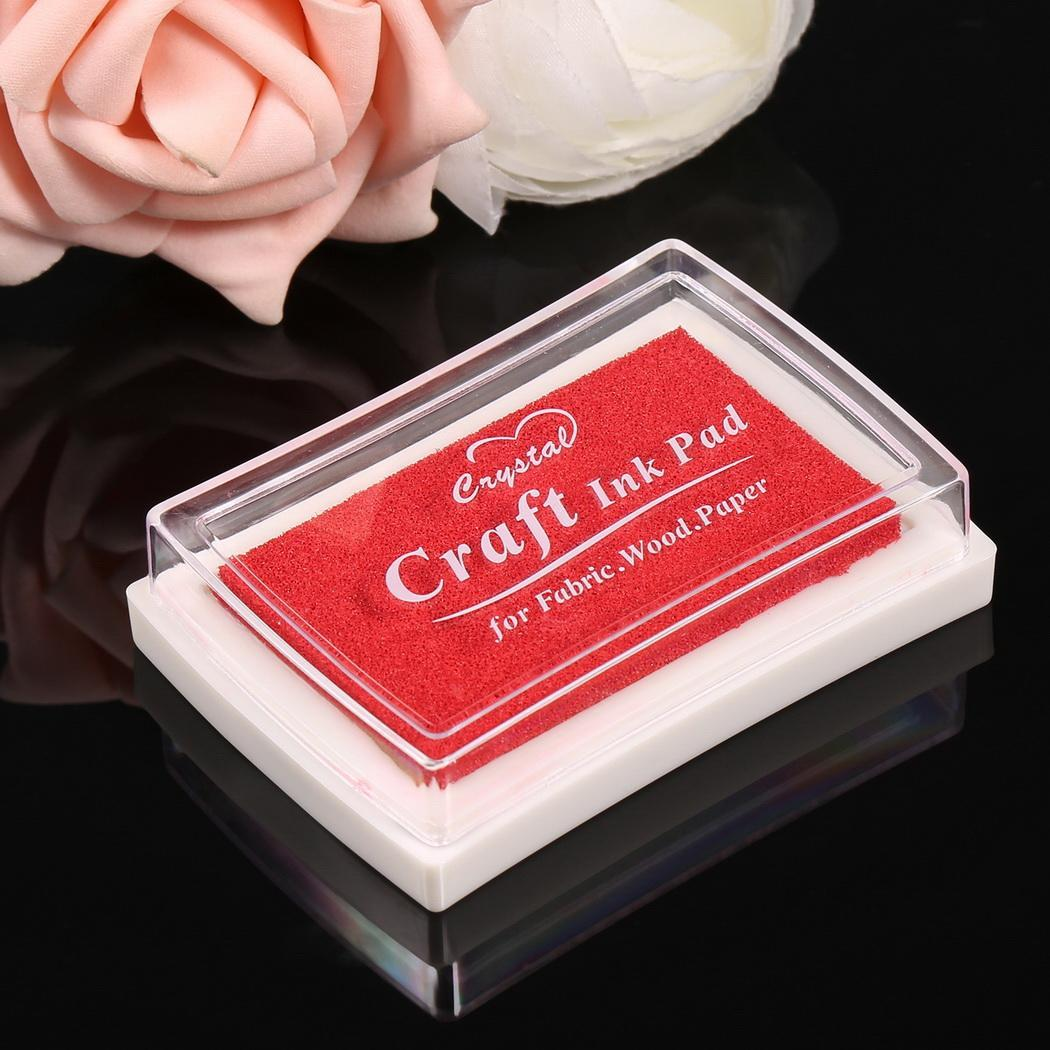 Sponge Square Stamps Craft Ink Pad for Paper Wood 15 Colors 0