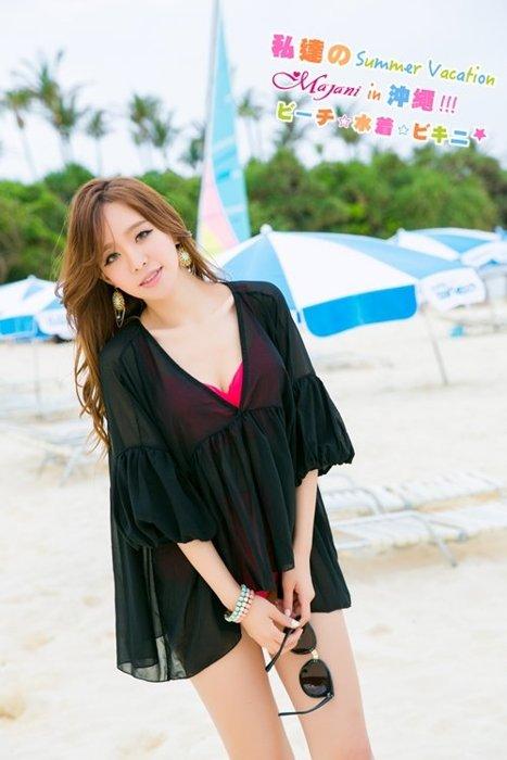 [瑪嘉妮Majani]中大尺碼 泳衣泳裝配件-大尺碼 超顯瘦 比基尼外罩衫 女神風 特價349 bs-181