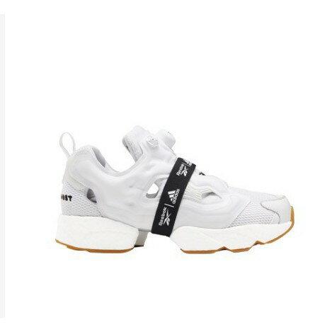【日本海外代購】REEBOK 愛迪達 PUMP FURY X BOOST 爆米花 充氣 全白 焦糖底 繃帶 慢跑 男女鞋 FU9238