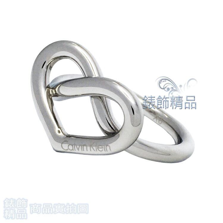 【錶飾精品】Calvin Klein CK飾品 KJ6BMR0001 甜美心形戒指 銀 316L白鋼 全新原廠正品