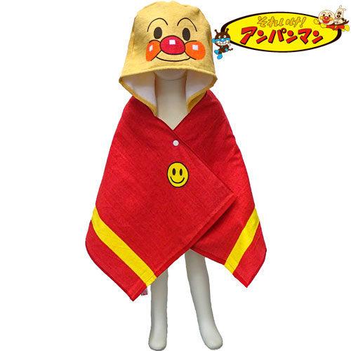 日本麵包超人浴巾連帽浴巾包巾843489