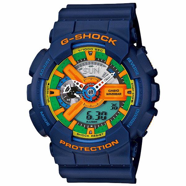 CASIO G-SHOCK GA-110FC-2ADR深海潛行流行腕錶/51mm