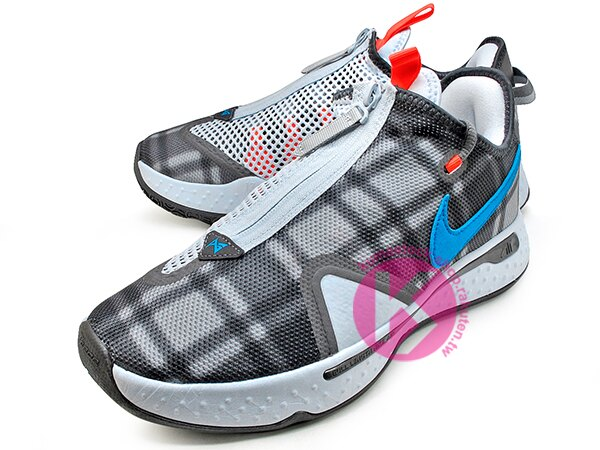 2020 強力登場 全明星球員 Paul George 個人最新簽名鞋款 NIKE PG 4 EP 灰黑藍 格紋 拉鍊 襪套式內靴包覆 全腳掌 AIR 氣墊 籃球鞋 PG4 (CD5082-002) 0220 1