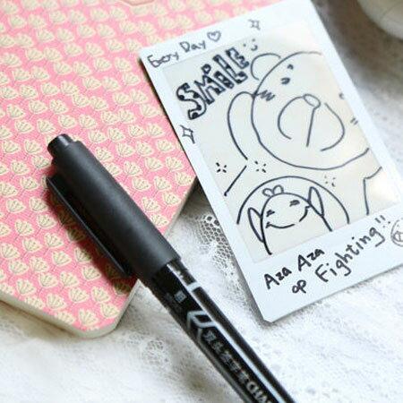 水性雙頭簽字筆 奇異筆 麥克筆 DIY 黑色 極細 相本 相簿 用【B511384】