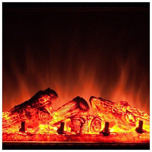 "27"" Electric Fireplace Heat Tempered Glass Freestanding Logs Insert Adjustable 5200 BTU AKFP0031 2"