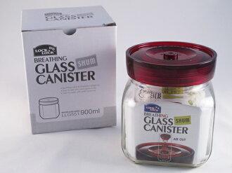 《愛鴨咖啡》LOCK&LOCK 樂扣單向排氣閥玻璃密封罐LLG-551 900ml / 300g