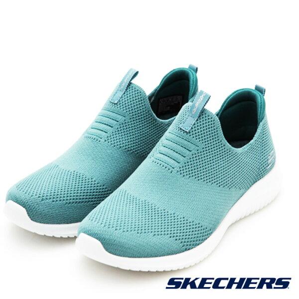 SKECHERS女健走鞋ULTRAFLEX(嫩綠)套入式休閒鞋12837SAGE【胖媛的店】