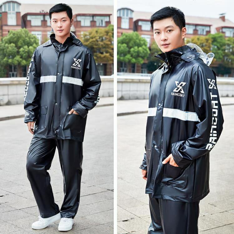 雨衣雨褲套裝男女全身防暴雨防水透明騎行摩托電動車分體雨衣成人 韓語空間