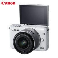 Canon佳能到Canon EOS M10單鏡組EF-M 15-45mm IS STM - 白【愛買】