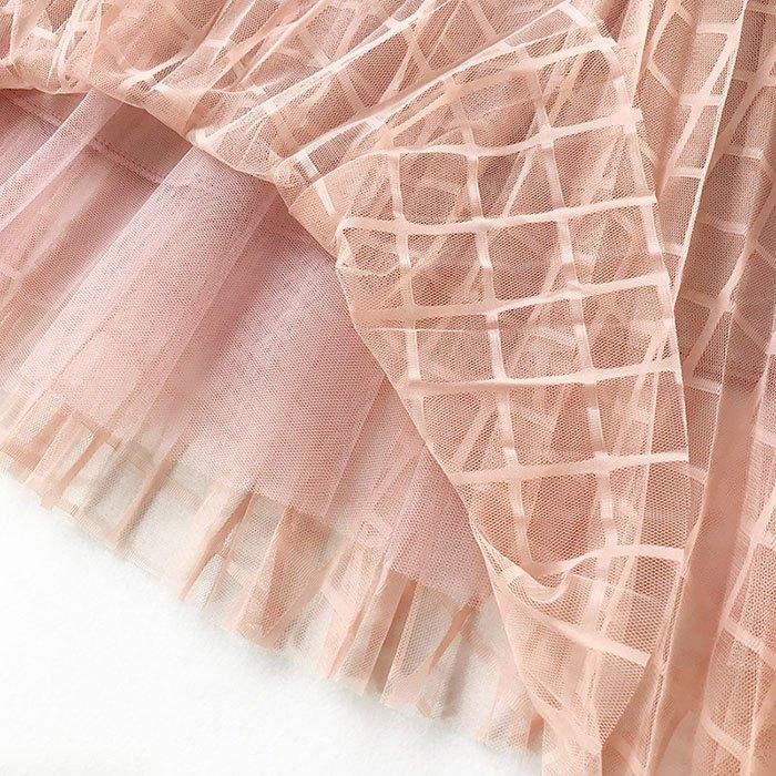 長裙 素色 格紋 網紗裙 及膝裙 A字裙 鬆緊腰 長裙【HA411】 BOBI  02 / 14 7