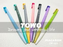 TOWO 馬卡龍原子筆 中油筆 /支 繽紛原子筆 OP-101