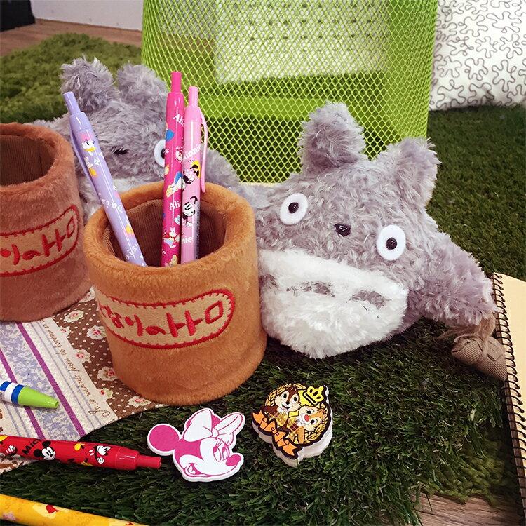 PGS7 日本卡通系列商品 - 龍貓 系列 造型 毛絨絨 筆筒 となりのトトロ Totoro 絨毛 宮崎駿 吉卜力