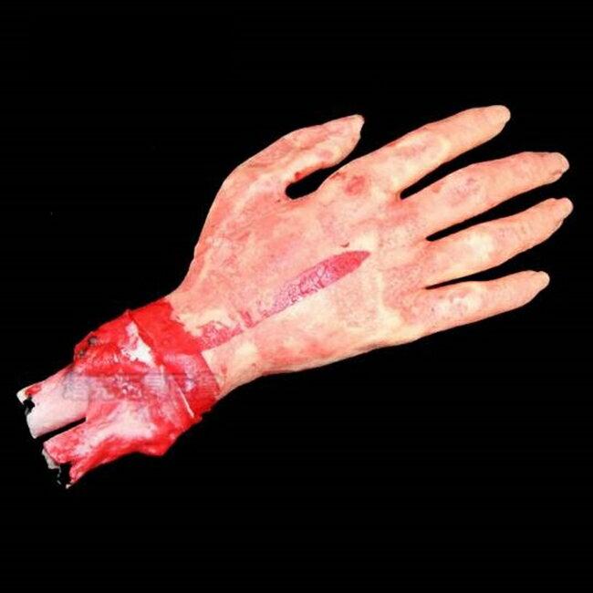 萬聖節 高質量 仿真 假 斷手 小號~四五指  假手 血手臂 搞怪  惡搞  尾牙  變裝  遊行~塔克~