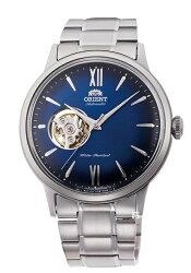 【時光鐘錶】東方錶 ORIENT 經典鏤空 復古機械錶 (RA-AG0028L) 漸層藍/40.5 mm